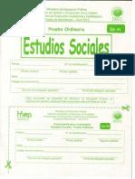Bachillerato Estudios Sociales Abril 2013
