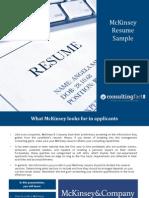 McKinsey Resume Sample