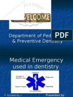 Medical Emergency in Dentistry
