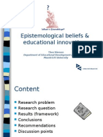 Epistemological beliefs & educational innovations