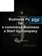 Business Plan for e commerce Business a Start Up Company