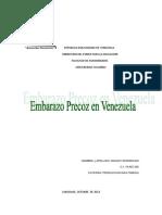 Embarazo Precoz en Venezuela