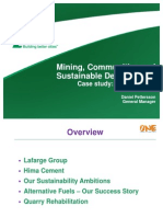 Mining, Communities and Sustainable Development- Case study Hima Cement
