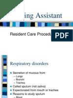 Nursing Assistant - Procedures