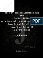 Role of Mobile Commerce App and Social Media as form of Innovation (process) in Brand Advertising toward or to Built the Brand Trusta Review