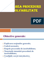 Intentarea procedurii de insolvabilitate