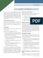 Code of Ethics Sarbanes-oxley