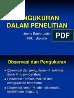 Metlit-05 Pengukuran dalam Penelitian - Prof. dr. Jenny Bashiruddin.ppt