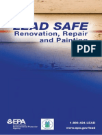 steps.pdf If so, you need to know how to work safely with lead-based paint. This  guide is designed to help contractors and homeowners plan for and  complete a home renovation, repair or painting project using lead safe work  practices. Lead safe work practices are a group of techniques that reduce  the amount of dust produced by renovation activities. When used correctly,  they make the work area safer for workers and the home safe for residents  when renovation is complete. Following lead safe work practices will allow  you to: If so, you need to know how to work safely with lead-based paint. This  guide is designed to help contractors and homeowners plan for and  complete a home renovation, repair or painting project using lead safe work  practices. Lead safe work practices are a group of techniques that reduce  the amount of dust produced by renovation activities. When used correctly,  they make the work area safer for workers and the home safe for residents  when re