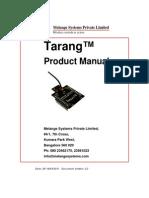 Tarang - Product Manual 2.2