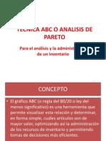 Tecnica ABC o Analisis de Pareto