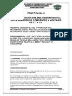 P_6 Uso y Operacion Del Multimetro Digital en La Medicion De