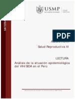 Analisis de La Situacion Epidemiologica Del VIH-SIDA en El Peru LO