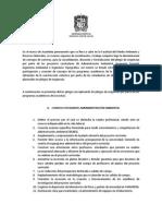 Pliego Peticiones Proyectos Curriculares IngAmb,Fores,Topo,Adm