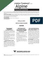 Alpine Pressurized Insecticide