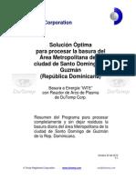 Solución Óptima para procesar la basura del Área Metropolitana de la  ciudad de Santo Domingo de Guzmán  (República Dominicana)