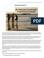 Social Media - Does Business Need It?