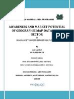 Mbainternshipreport Customerawarenessandmarketpotentialofgeographicmapdata b2c 100802122424 Phpapp01