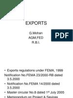 Exchange Control Regulations - Exports
