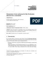 Advances in Mathematical Economics - 2013 - Elementary Form and Proof of the Frobenius Theorem.pdf