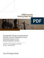 Demographic Change, Intergenerational Transfers, and the Challenges for Social Protection Systems in the People's Republic of China