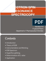 ELECTRON SPIN RESONANCE SPECTROCOPY.ppt