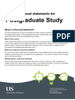 Writing personal statements for postgraduate study
