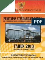 Buku Standarisasi Harga 2013 Final 31 Oktober 2012