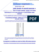 Sound dB Equation