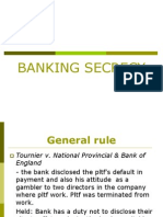 5. Banking Secrecy