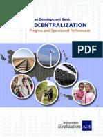 Corporate Evaluation Study on ADB's Decentralization