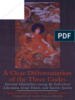 A Clear Differentiation of the Three Codes