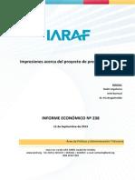 IARAF - 13-09-12 IE 238_Presupuesto 2014