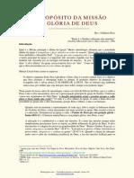 O Propósito da Missão - A Glória de Deus - Gildásio