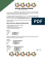 ORDEN DE OPERACIONES
