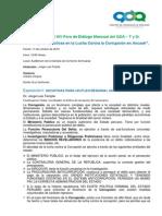 Síntesis del XIV Foro de Diálogo Mensual