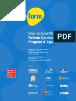 International Drug Policy Reform Conference Program and Agenda