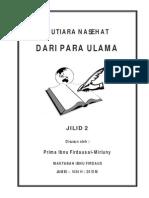 Mutiara Nasehat Dari Para Ulama Jilid 2 - Prima Al-Mirluny