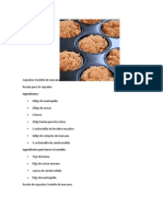 Cupcakes Crumble de Manzana