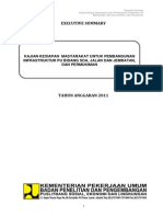 Kajian Kesiapan Masyarakat Untuk Pembangunan Infrastruktur PU Bidang SDA, Jalan & Jembatan Dan Permukiman