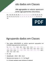 Estatistica -Agrupamento Em Classses