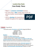 leadership and management at tesco incorporated