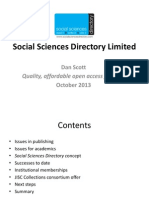 Social Sciences Directory - A view on Open Access