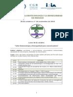 Programa Semana Biotecnología y Bioseguridad en Montevideo