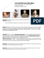 expressive self portrait clay bust project description