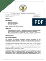Informe de Quimica Grupo 3 Electromecanica A