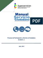 Sc m 001 Manual Servicio Al Ciudadano