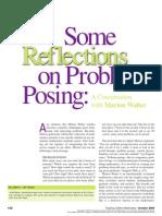 walter reflections problem posing
