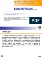 Apresentação do projeto PESQUISA E  ESTUDO SOBRE TÉCNICAS E MÉTODOS RELACIONADOS A ENGENHARIA DE SOFTWARE