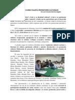 Nota Concluye Curso-taller a Promotores Culturales